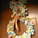 Fabric Scrap Bunny Wreath