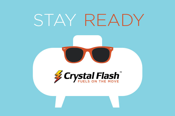 Crystal Flash Propane Tank