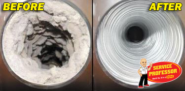 Dryer Vent Before and After